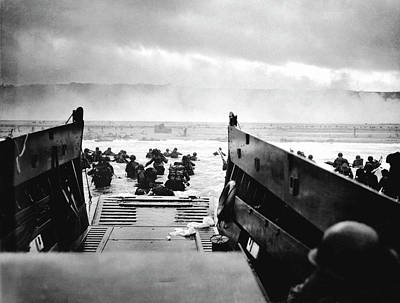 Invade Photograph - D-day Landings by Robert F. Sargent, Us Coast Guard
