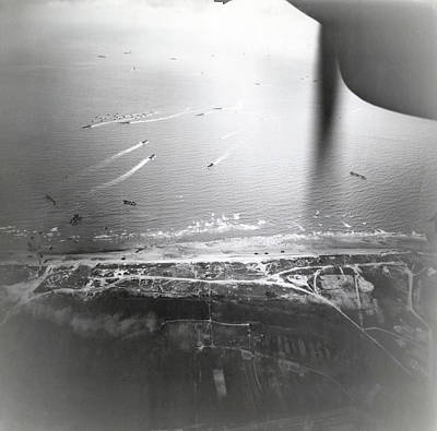 Invade Photograph - D-day Landings by Us Air Force