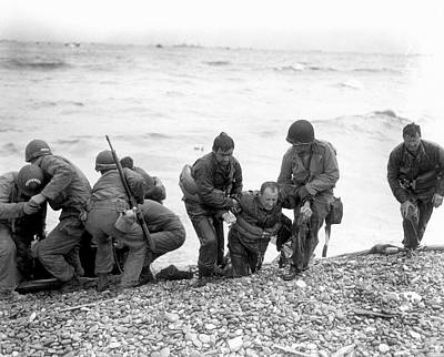Raft Photograph - D-day Landings by Us Army