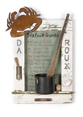 Art Mixed Media - Da Roux 01 by Benjamin Bullins