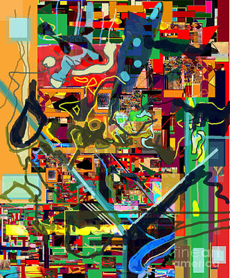 Integration Of Personality. Subconscious Digital Art - Daas 17e by David Baruch Wolk