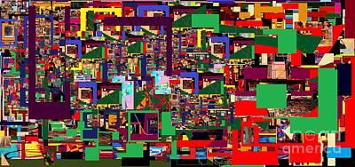 Integration Of Personality. Subconscious Digital Art - Daas 19 by David Baruch Wolk