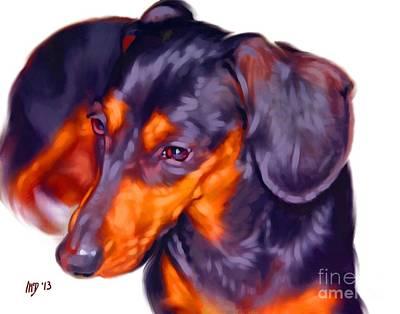 Dachshund Puppy Digital Art - Dachshund Art by Iain McDonald