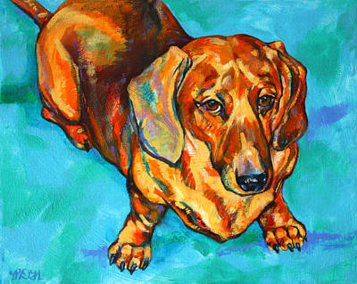 Hot Dogs Painting - Dachshund by Derrick Higgins