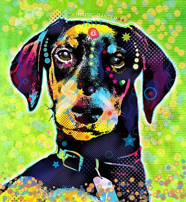 Dachshund Art Digital Art - Dachshund by Gary Grayson