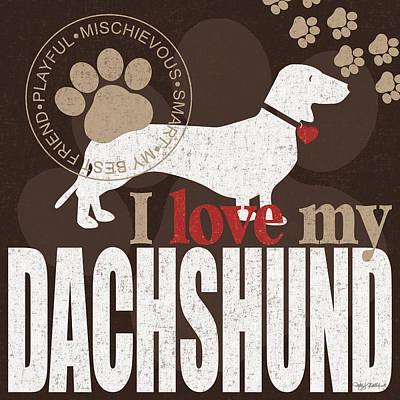 Dachshund Print by Kathy Middlebrook