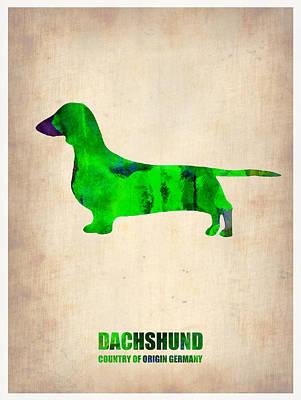 Dachshund Poster 1 Print by Naxart Studio