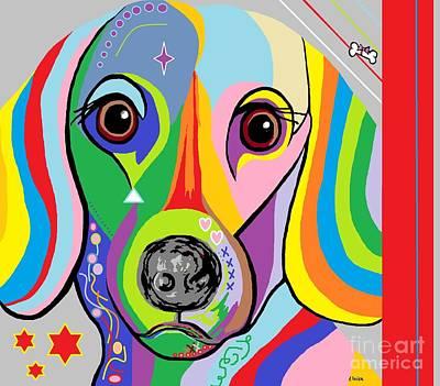Dachshund Puppy Digital Art - Dachshund by Eloise Schneider