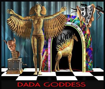 Dada Goddess Original by Stuart Swartz