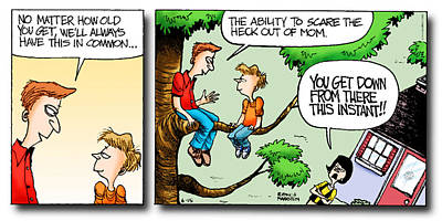 Daddy's Home Dad And Son Bond Scaring Mom Original by Tony Rubino