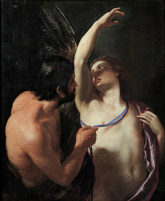 Andrea Sacchi Painting - Daedalus And Icarus by Andrea Sacchi