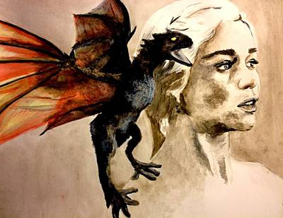 Daenerys Khaleesi Mother Of Dragons Original by Lauren Anne