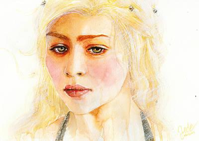 Daenerys Targaryen Print by Elisabeth Vania