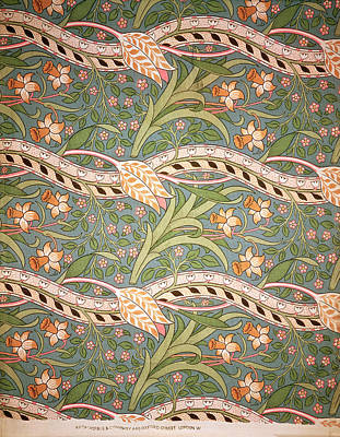 Ornate Tapestry - Textile - Daffodil Chintz by John Henry Dearle