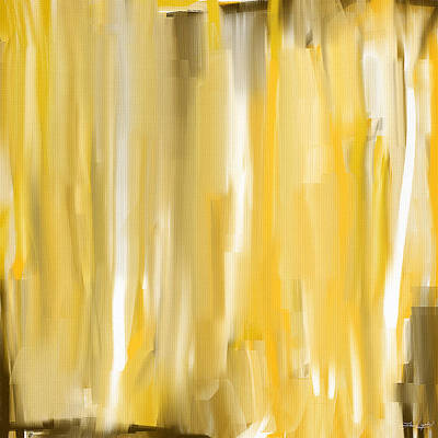 Abstract Lemons Painting - Daffodil Cream by Lourry Legarde