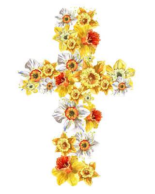 Daffodil Cross Print by Alison Fennell