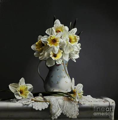 Daffodils Print by Larry Preston