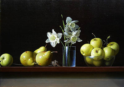 Still Life With Daffodils Painting - Daffodils by Stanislav Plonish