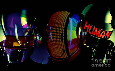 Daft Punk Painting Print by Marvin Blaine