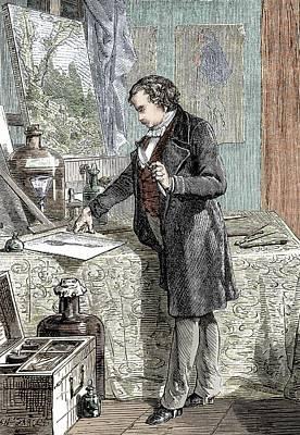 Jacques Photograph - Daguerre's Photographic Experiments by Sheila Terry