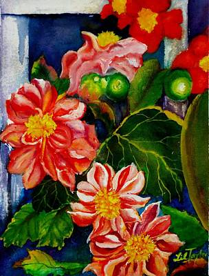 Spring Bulbs Painting - Dahlias by Lil Taylor