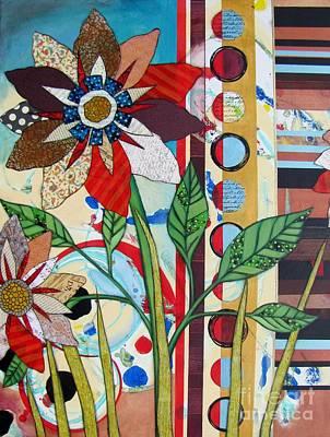 Abstract Movement Mixed Media - Dahlia's Reach For The Sky by Marirosa Hofmann