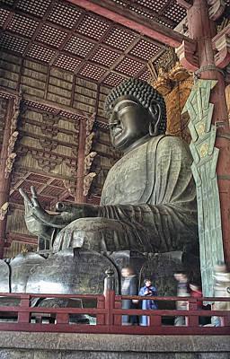 Daibutsu Buddha Of Todai-ji Temple Print by Daniel Hagerman
