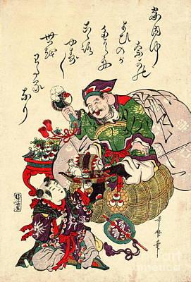 Daikokuten 1806 Print by Padre Art