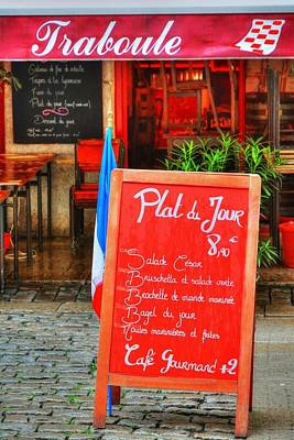 Lyon France Photograph - Daily Special In Lyon by Mel Steinhauer