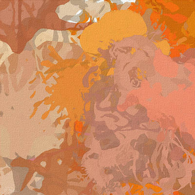 Peach Colors Painting - Dainty Visual by Lourry Legarde