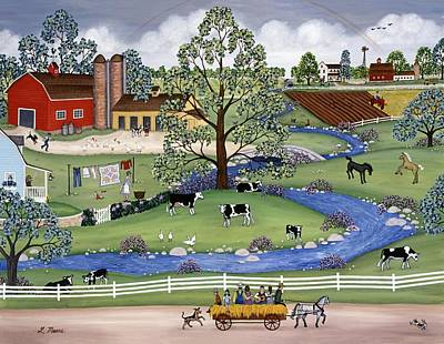 Farm Painting - Dairy Farm by Linda Mears