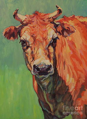 Animal Portrait Painting - Dairy Queen by Patricia A Griffin