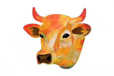 Calf Digital Art - Dairy Queen by Art Spectrum