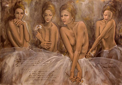 Dreams Painting - Daisies And Doubts by Dorina  Costras