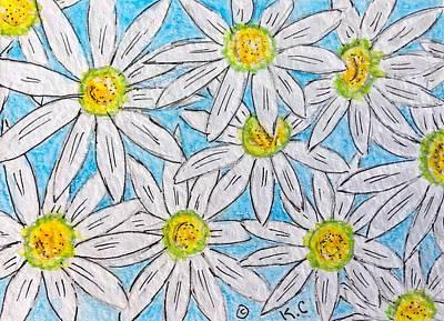 Daisies Daisies Print by Kathy Marrs Chandler