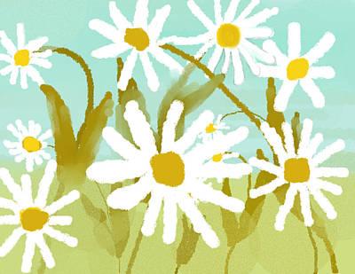 Daisies Print by Paula Brown