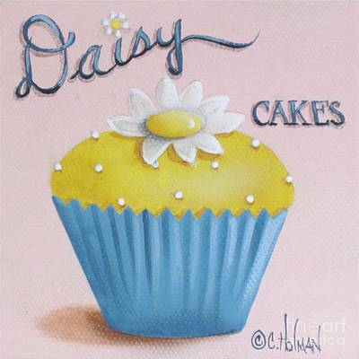 Daisy Cakes Print by Catherine Holman