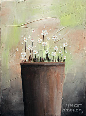 Painting - Daisy In Pot2 by Home Art