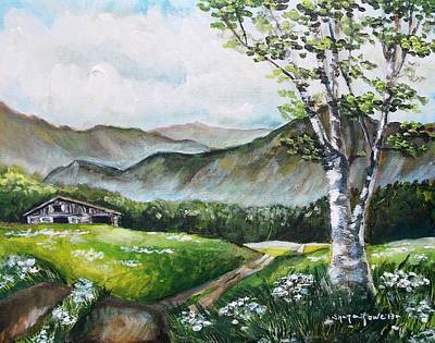 Maine Roads Painting - Daisy Lane by Shana Rowe Jackson