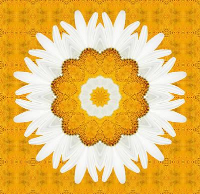 Kaleidoscope Digital Art - Daisy Mandala 01 by Variance Collections