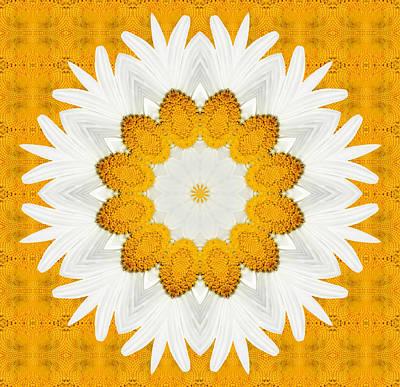 Kaleidoscope Digital Art - Daisy Mandala 03 by Variance Collections