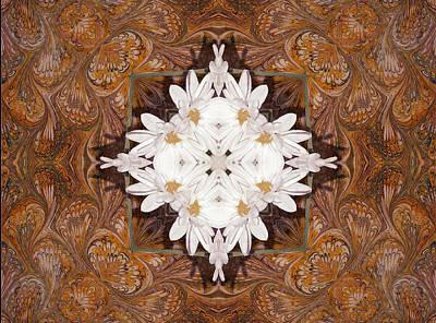 Kaleidoscope Digital Art - Daisy Pattern Mandakal - L0103b by Variance Collections