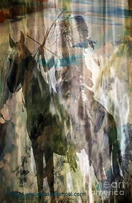 Dakota Falls Warrior Print by PainterArtist FIN