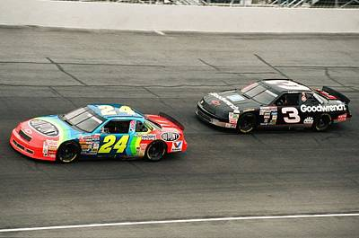 Jeff Gordon And Dale Earnhardt Print by Retro Images Archive