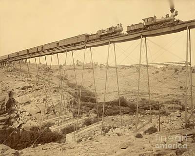 Dale Creek Bridge Union Pacific Print by Getty Research Institute