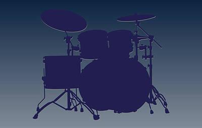 Dallas Cowboys Drum Set Print by Joe Hamilton