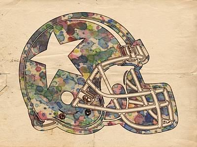 Football Painting - Dallas Cowboys Poster Vintage by Florian Rodarte