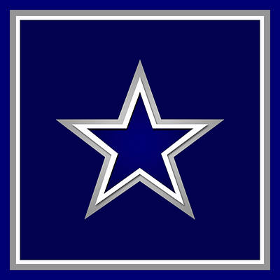 Dallas Cowboys Print by Tony Rubino
