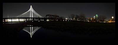 Dallas Skyline Photograph - Dallas Skyline Hunt Bridge Color by Jonathan Davison