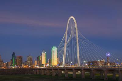 Dallas Skyline Photograph - Dallas Skyline In The Evening 1 by Rob Greebon